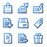 Shopping icons, blue series Royalty Free Stock Images