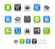 Shopping Icons // Clean Series Royalty Free Stock Images