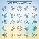 Shopping icons. Collection of 25 shopping icons Stock Images