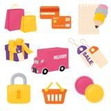 Shopping Icons Royalty Free Stock Photo