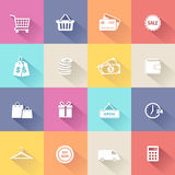 Shopping Icons - Flat Design Stock Photos