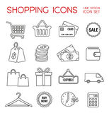 Shopping Icons - Flatdesign Stock Images