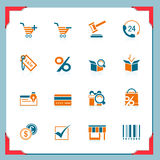 Shopping icons | In a frame series Royalty Free Stock Images
