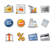 Shopping Icons Fresh Collection - Set 10 Royalty Free Stock Photo