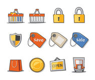 Shopping Icons Fresh Collection - Set 9. Professional Web icons collection for websites, applications or presentations Stock Photos