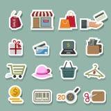 Shopping icons. Illustration of shopping icons set Stock Photo