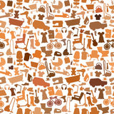 Shopping icons pattern with theme for sale, advertising and design. Royalty Free Stock Images