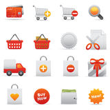 Shopping Icons | Red 13 Stock Photo