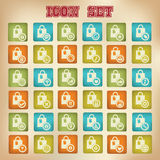 Shopping icons,Retro version.  Royalty Free Stock Photography