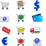 Shopping Icons Set. Shopping Vector Icons Set isolated Royalty Free Stock Photos