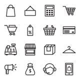 Shopping Icons. Set of 16 Shopping Icons Stock Photography