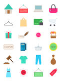 Shopping  icons set. Set of 24 shopping  icons Stock Image