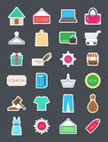 Shopping   icons set. Set of 24 Shopping   icons Royalty Free Stock Photo