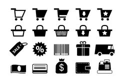 Shopping icons. Set, basic series Royalty Free Stock Image