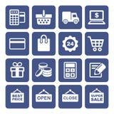 Shopping Icons Set Royalty Free Stock Image