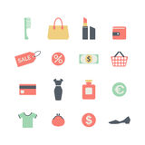 Shopping icons Royalty Free Stock Photography