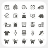 Shopping icons set. EPS10, Don't use transparency Royalty Free Stock Photography