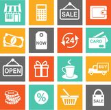Shopping icons. Set of shopping icons in flat colorful style Stock Images