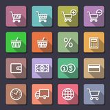 Shopping icons set. Flaticons series Stock Photos