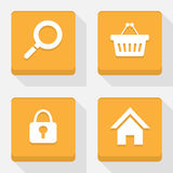 Shopping  icons set great for any use. Vector EPS10. Royalty Free Stock Photography