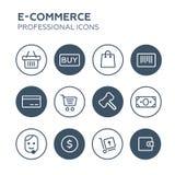 Shopping Icons Set. Illustration Royalty Free Stock Photos