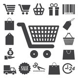 Shopping icons set. Illustration Stock Photography