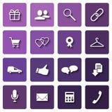 Shopping icons set Stock Image