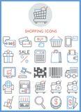 Shopping icons set  Stock Photography