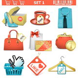 shopping  icons set 1 Stock Image