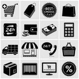 Shopping Icons. Set isolated on white background Stock Photo