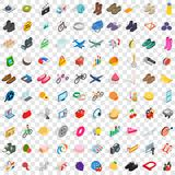 100 shopping icons set, isometric 3d style. 100 shopping icons set in isometric 3d style for any design vector illustration Vector Illustration