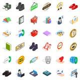 Shopping icons set, isometric style. Shopping icons set. Isometric style of 36 shopping vector icons for web isolated on white background Stock Images