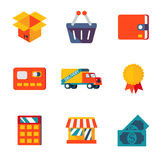 Shopping Icons Royalty Free Stock Photos