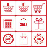 Shopping icons Stock Photos