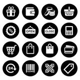 Shopping Icons set Royalty Free Stock Photo