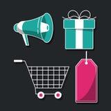 Shopping icons set. Icon vector illustration graphic design Stock Photo