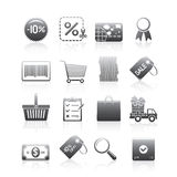 Shopping Icons Set Silhouette Series Royalty Free Stock Images
