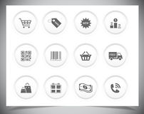 Shopping icons Royalty Free Stock Photos