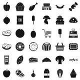 Shopping icons set, simple style. Shopping icons set. Simple style of 36 shopping vector icons for web isolated on white background Stock Photos