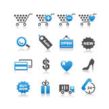 Shopping icons set. Simplicity Series Royalty Free Stock Images