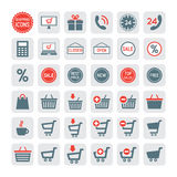 Shopping icons set. Vector Stock Image
