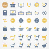 Shopping icons set. Vector. The Shopping icons set. Vector Stock Photos