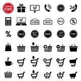 Shopping icons set. Vector Stock Images