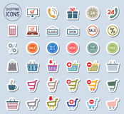 Shopping icons set. Vector. The Shopping icons set. Vector Stock Photography