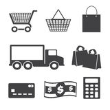 Shopping icons set, Stock Image