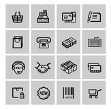 Shopping icons set Royalty Free Stock Photography