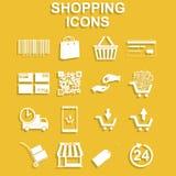 Shopping icons set. Stock Photography