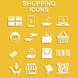 Shopping icons set. Royalty Free Stock Image