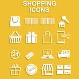 Shopping icons set. Stock Photos