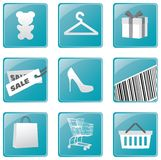 Shopping icons set Vector design Stock Photography